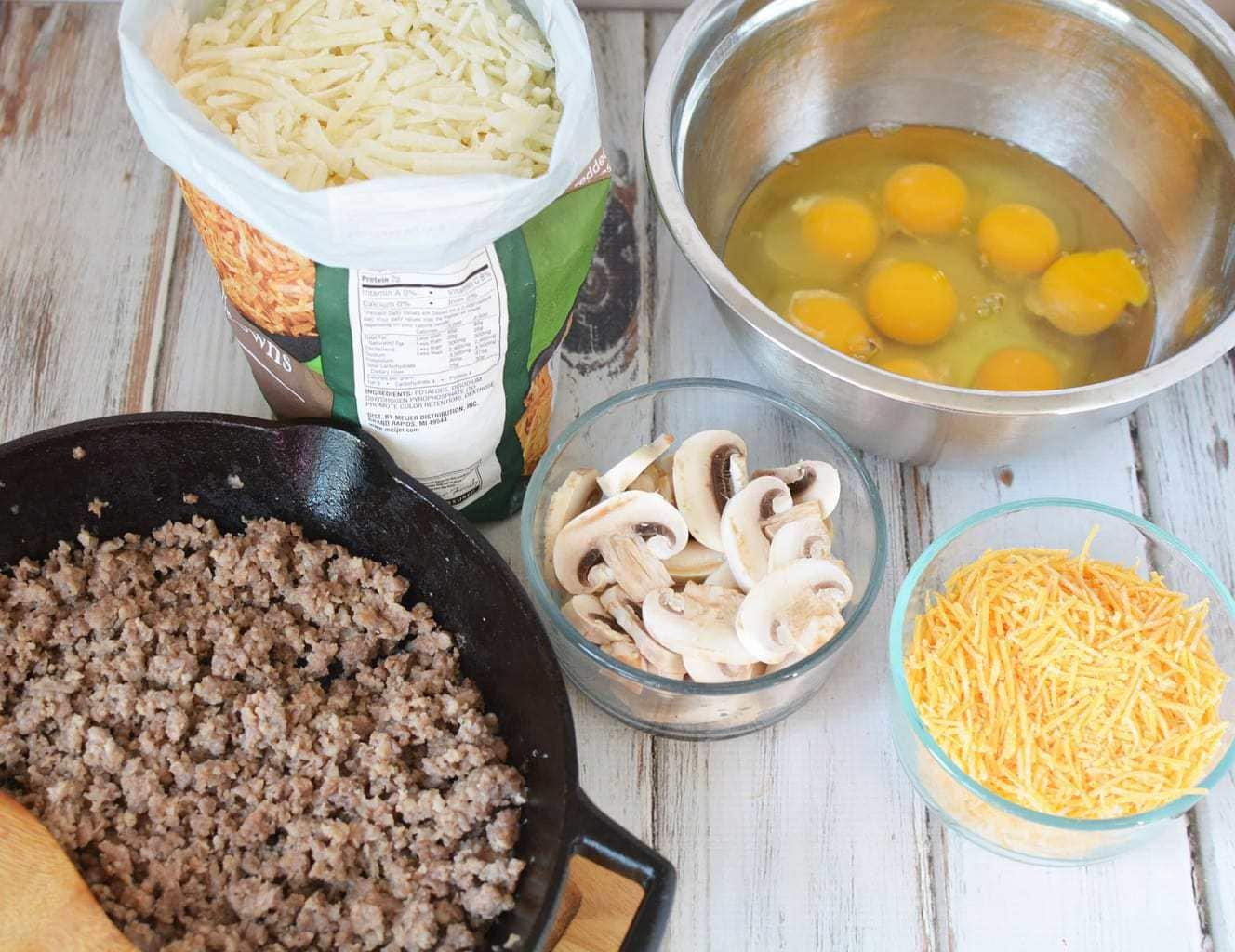 ingredients to make hash brown casserole