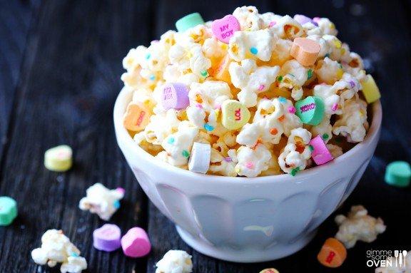 Valentine's Day popcorn