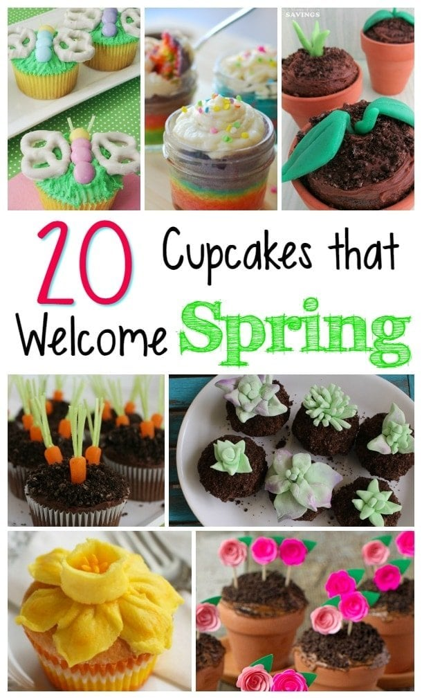 Spring Cupcakes, Easter Cupcakes, St. Patricks Day Cupcakes
