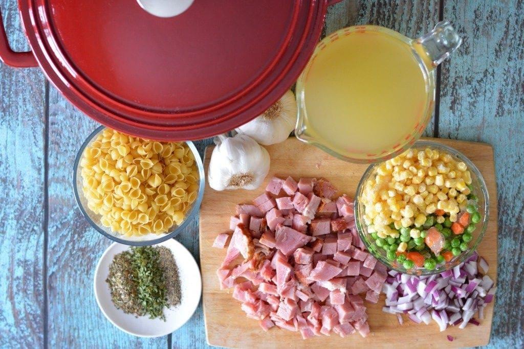 Ingredients One Pot Ham & Pasta