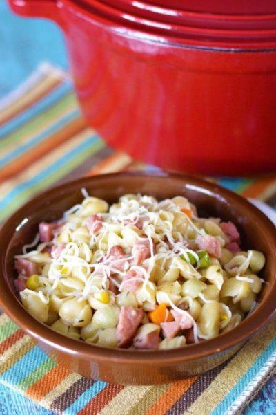 One Pot Ham & Pasta