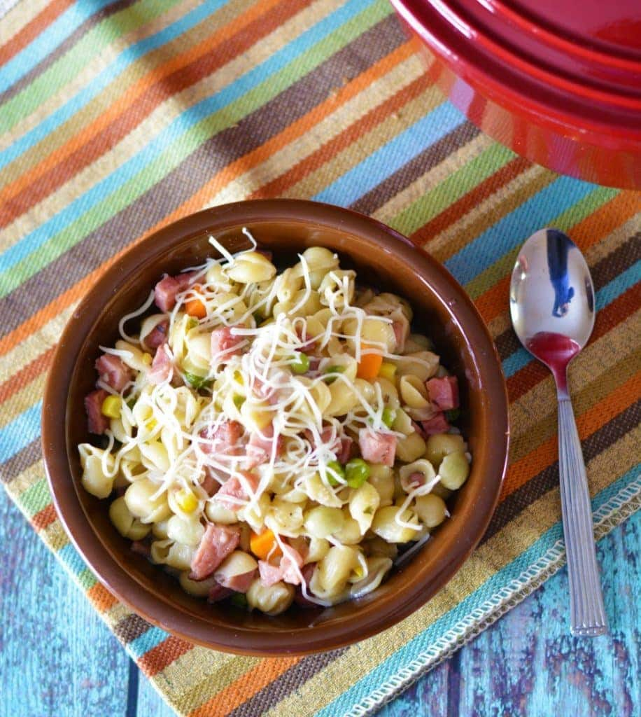 One Pot Ham & Veggie Pasta: Have Dinner Ready In No Time