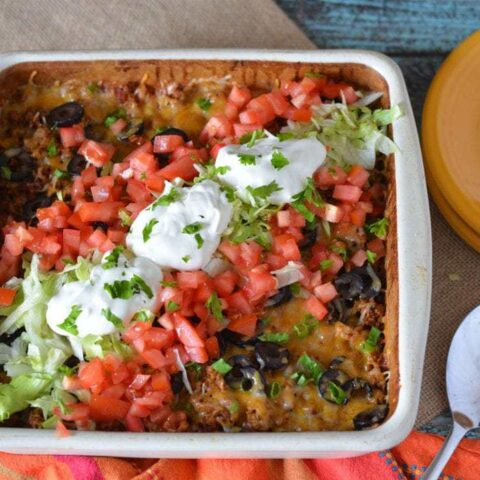 taco bake casserole, easy taco bake, casserole recipes, easy casserole recipes, tacos, taco Tuesday recipes