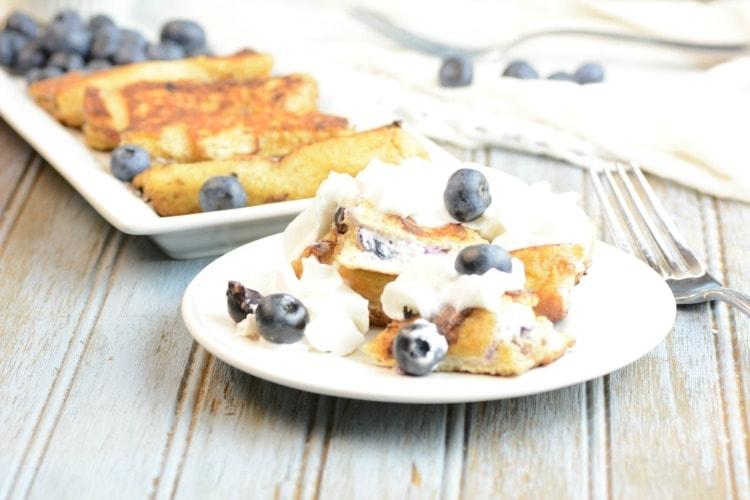 Stuffed Blueberry & Cream