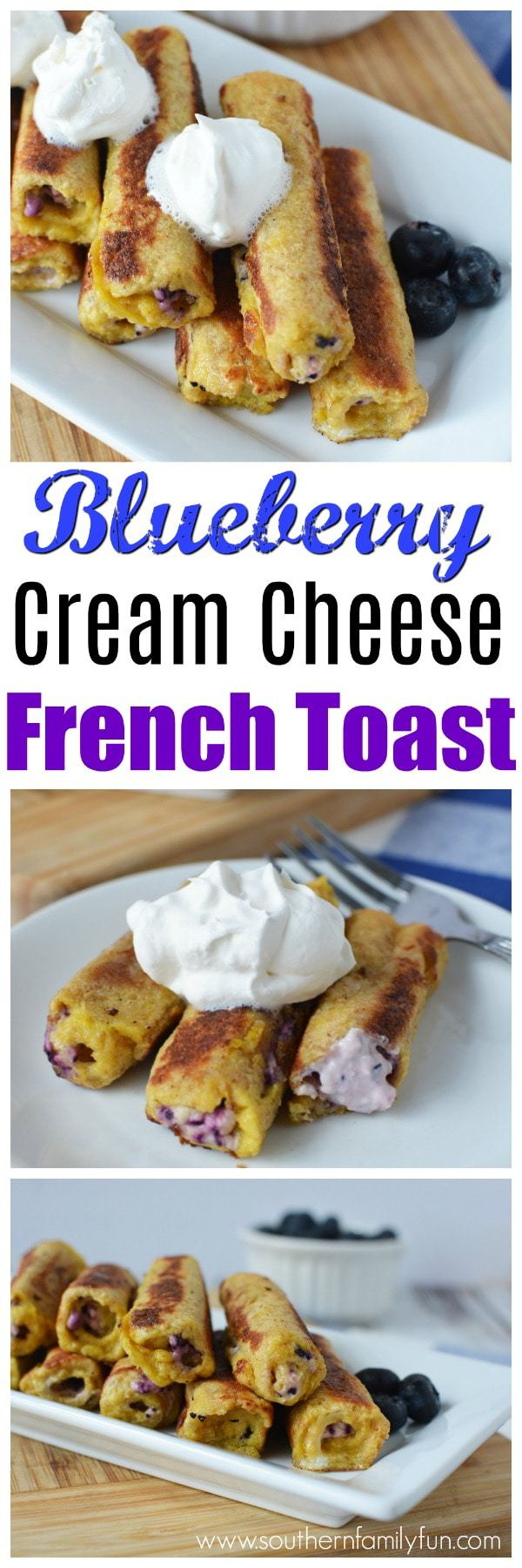 Blueberry French Toast: Breakfast is the one meal you are probably looking for new ideas. It can be so easy to get stuck in the rut of eating the same things, morning after morning. Skip the boring breakfast, and try your hand in making these Stuffed Blueberry and Cream Cheese French Toast Roll Ups.