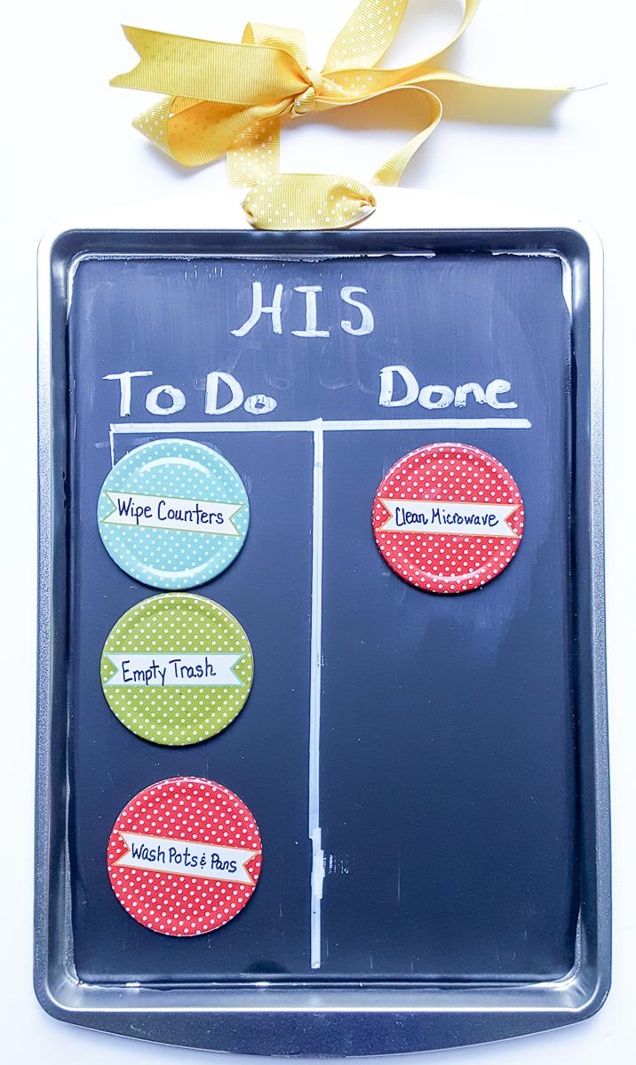 diy kids chore chart