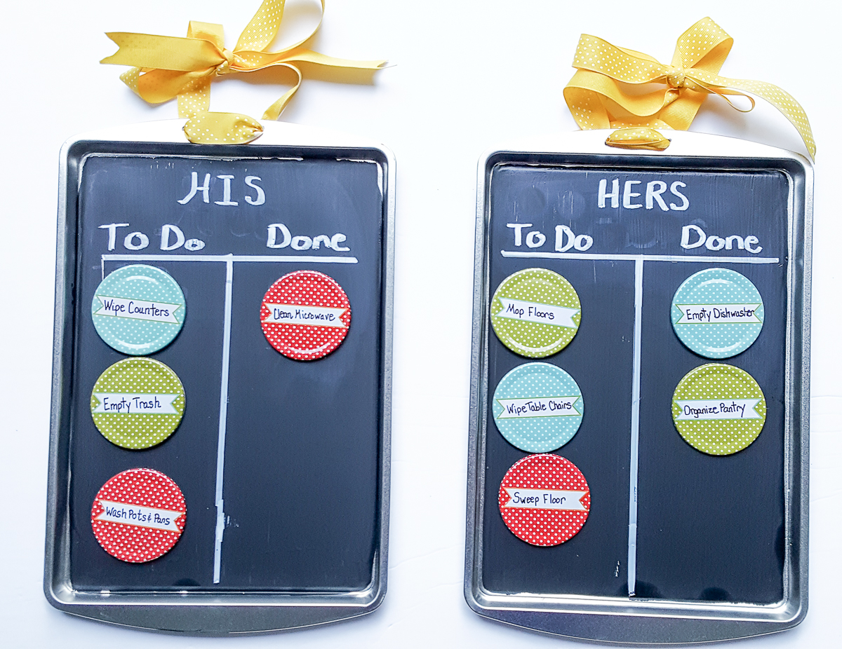 diy kids chore charts for his and her