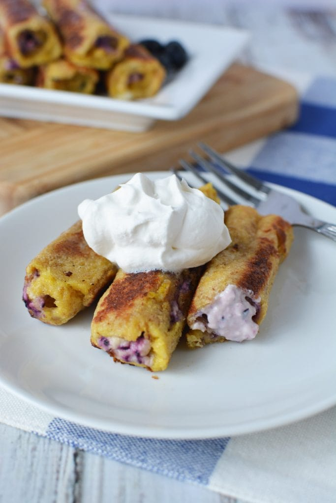 Blueberry French Toast, French Toast, Blueberry & Cream Cheese Roll Ups, Recipes Using Blueberries