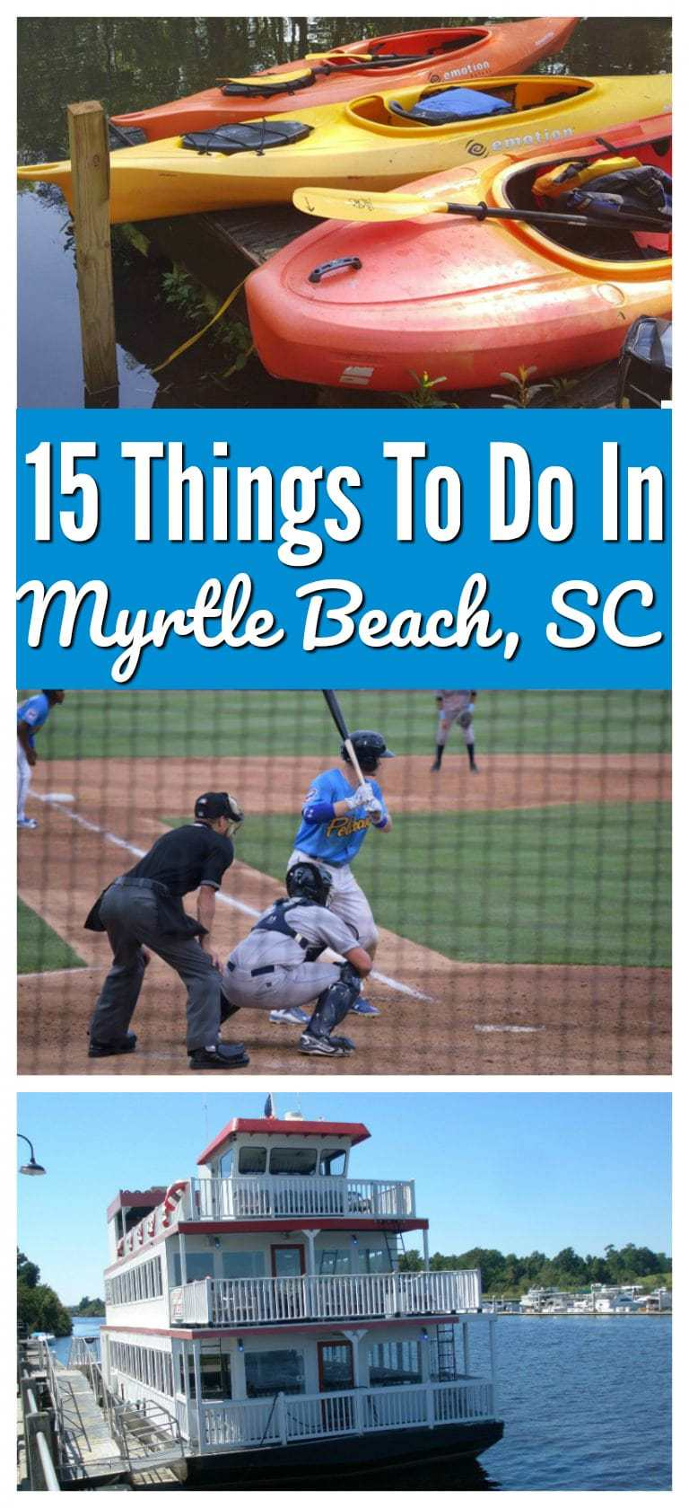 Myrtle Beach is more than just a place to catch some rays. It's a family destination that is jam-packed with great attractions. Whether your family loves baseball, a riverboat, kayaking, or music, there's something for everyone. @MyMyrtleBeach #visitmyrtlebeach #MyrtleBeach https://www.lifefamilyfun.com/things-to-do-myrtle-beach/