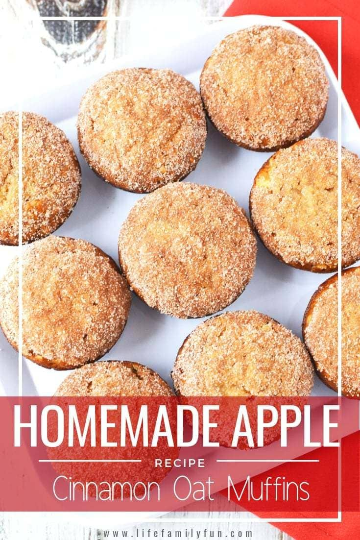 Not only are these Apple Cinnamon Oat Muffins moist and amazing, but there's nothing quite like sitting in my kitchen in the morning and eating one of this delicious treats for breakfast.