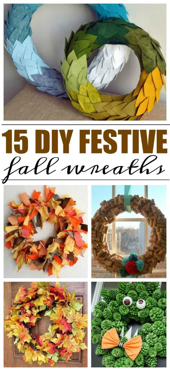 DIY Fall Wreaths - 15 Festive Wreaths Perfect for Halloween and Thanksgiving One of my favorite things about making wreaths for any holiday (or time of year), is that you can put some of yourself into it. To ring in fall, I've put together this list of 15 easy to make fall wreaths. https://www.lifefamilyfun.com/diy-fall-wreaths/