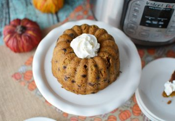 The Best Instant Pot Pumpkin Chocolate Chip Cake
