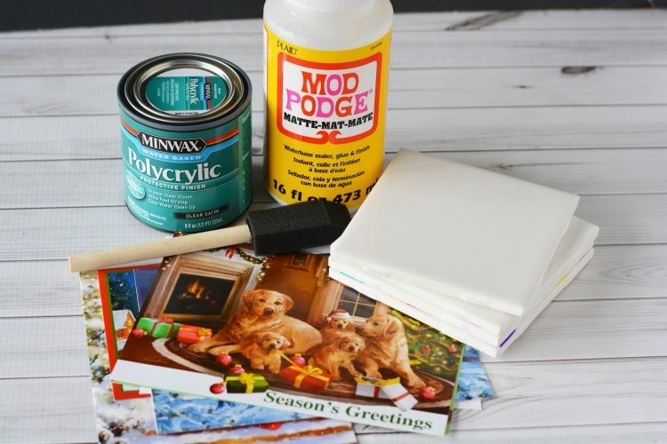 Materials needed to make DIY Christmas Coasters