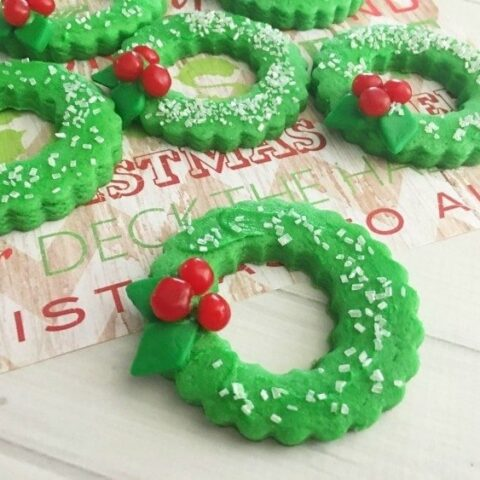 Christmas Cookies Shaped Like Wreaths