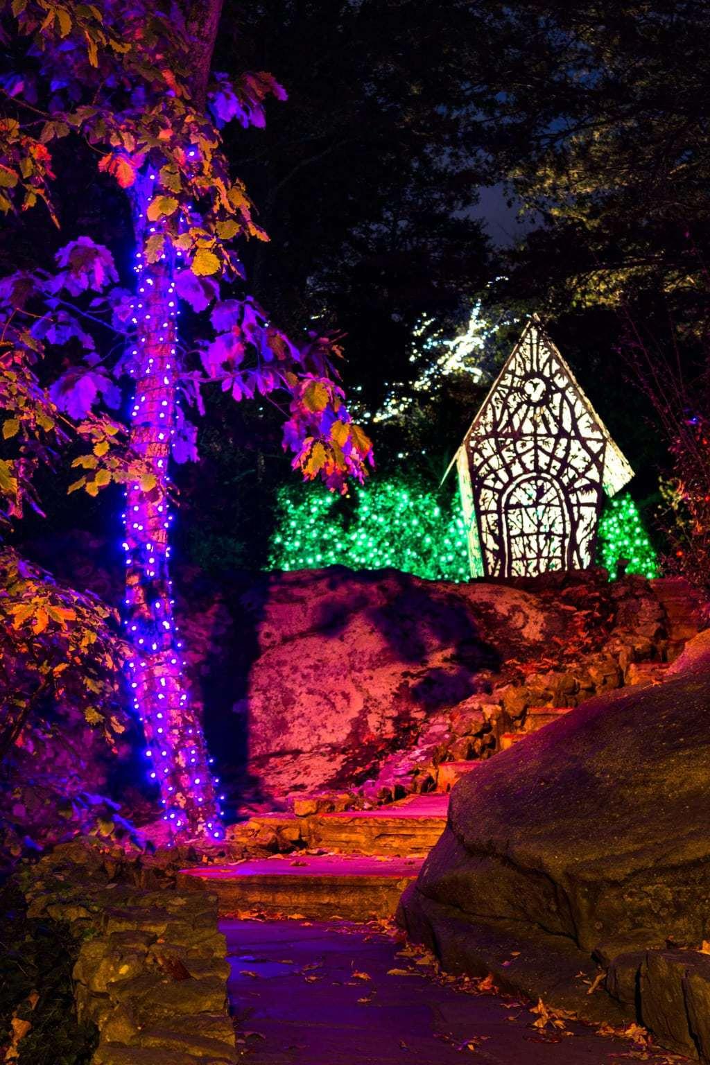 Experience rock city 39 s enchanted garden of lights - Rock city enchanted garden of lights ...