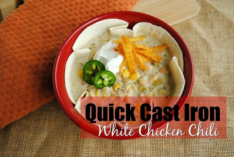 Quick Cast Iron White Chicken Chili
