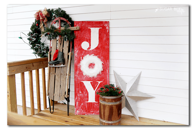 JOY Holiday Porch Sign