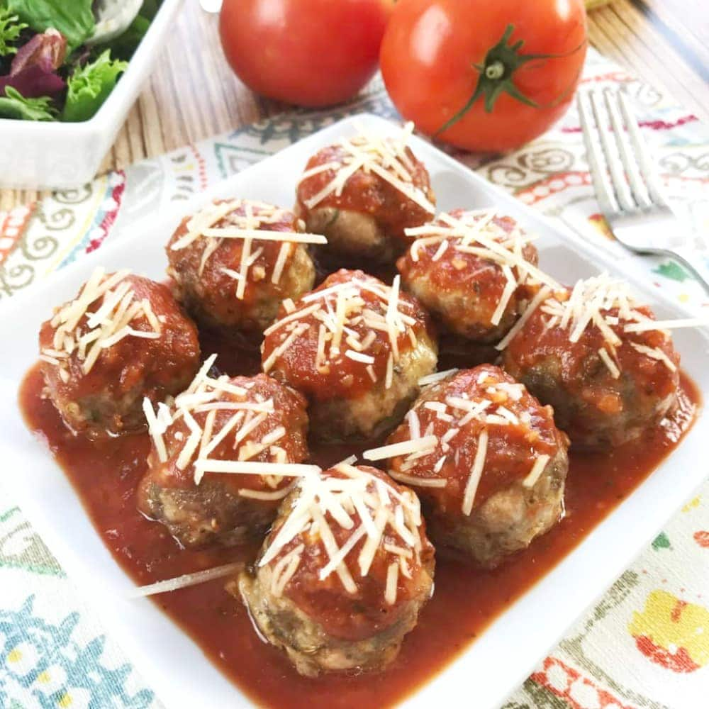 If you've got a hankering for some meatballs with some amazing flavor, this Keto Low Carb Meatball recipe is the one that you've been waiting for. #KetoRecipes #KetoMeatballs #LowCarbMeatballs #KetoDiet