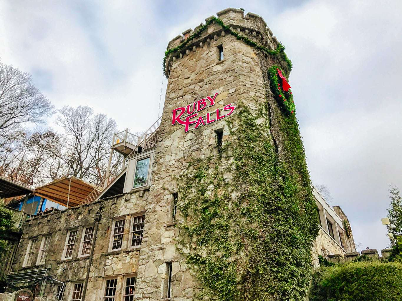 ruby falls, chattanooga, christmas at ruby falls