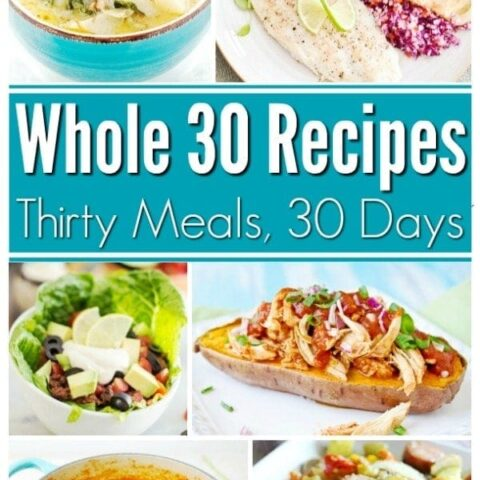 Whole 30 Recipes, 30 days of Whole30 recipes planned