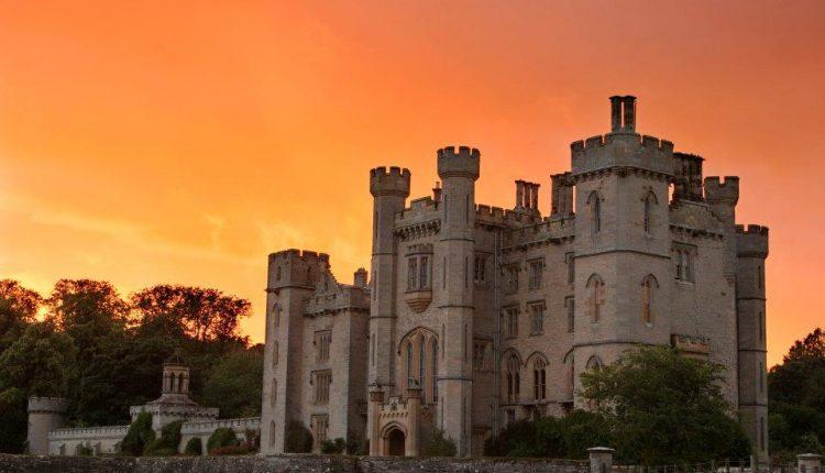 DunsSunset Duns Castle