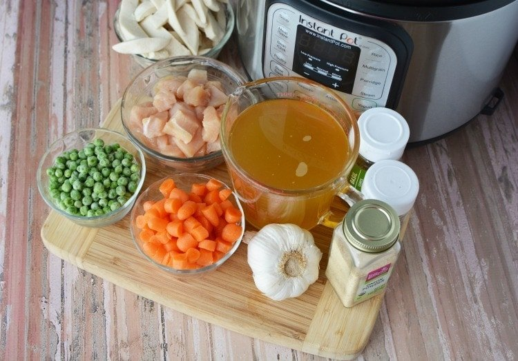 Ingredients to use for Instant Pot Chicken & Dumplings