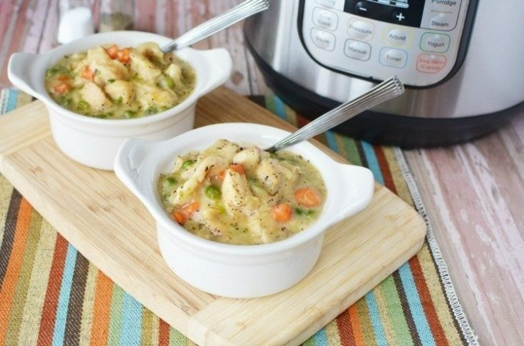Easy Instant Pot Chicken & Dumplings Recipe - Made With Canned Biscuits and Veggies