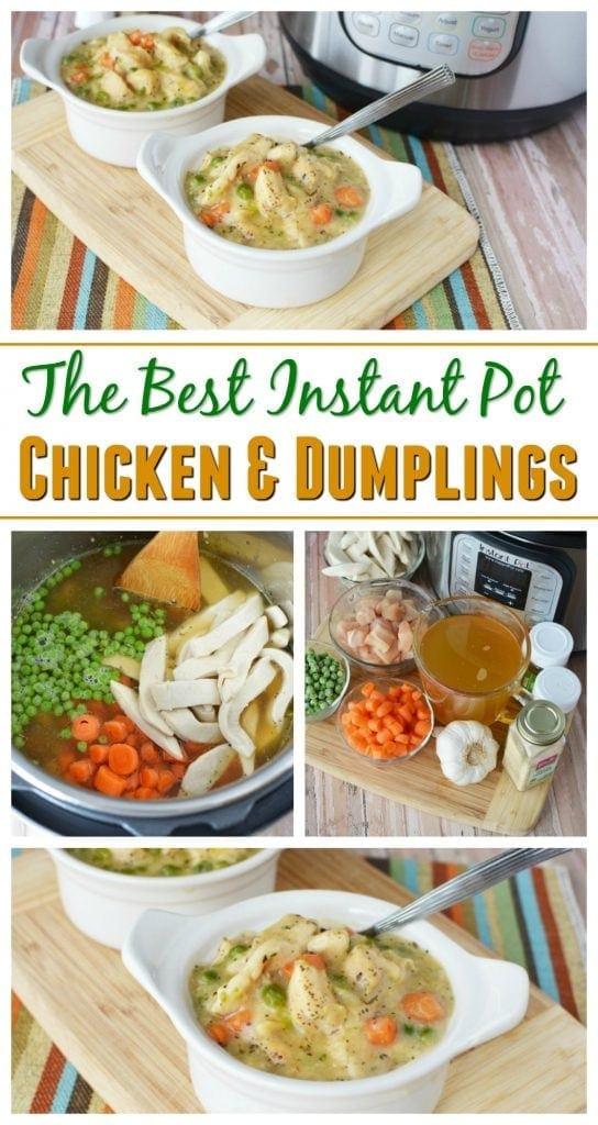 The Best Instant Pot Chicken & Dumplings Recipe Southern Comfort Food https://www.southernfamilyfun.com/instant-pot-chicken-dumplings/