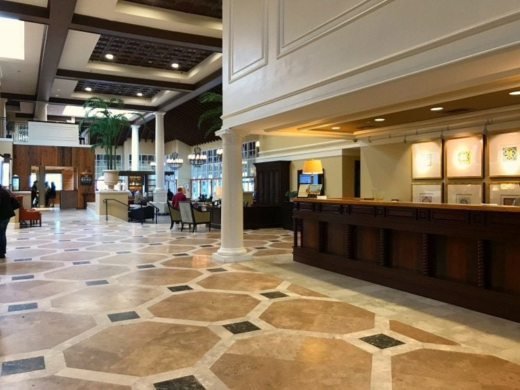 The Lobby of the King and Prince Resort