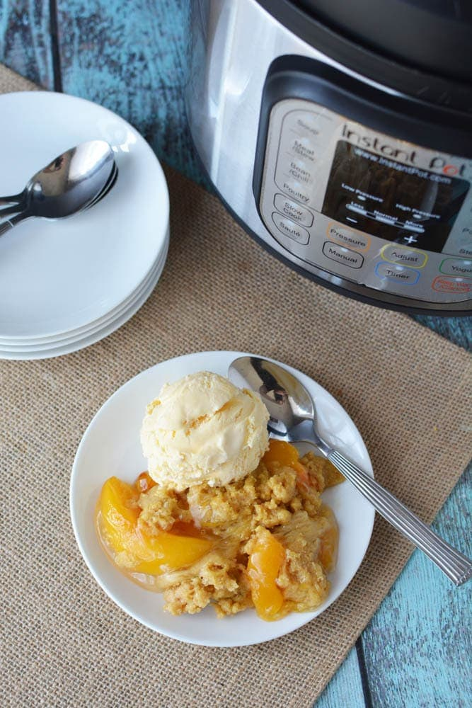 Peach Cobbler Recipe, Instant Pot Peach Cobbler