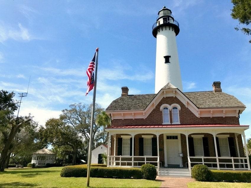 st simons lighthouse, st. simons, lighthouses in Georgia
