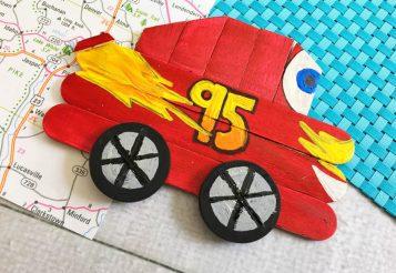Disney Lightning McQueen Craft for Kids #Disney