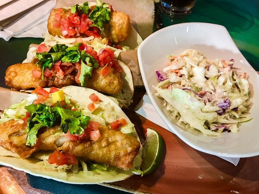 Fish Tacos at Margaritaville