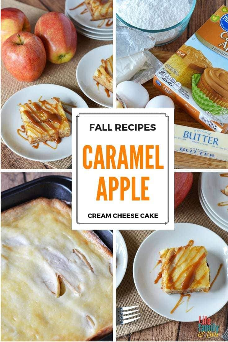 This easy Caramel Apple Cream Cheese Cake Recipe is so amazing that, if you decide to make it, people will think that you slaved over it in the kitchen. https://www.lifefamilyfun.com/caramel-apple-cream-cheese-cake/