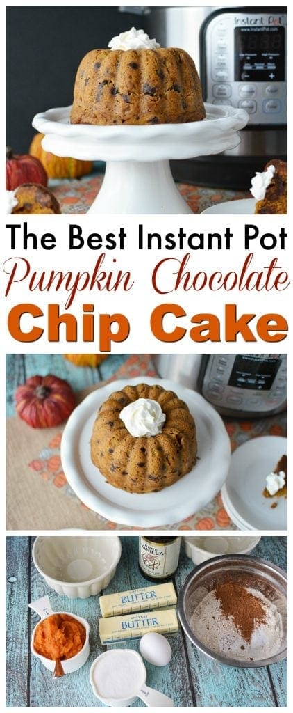 This Instant Pot Pumpkin Chocolate Chip Cake is something worth making. It's pumpkin season and it only makes sense to make something this delicious this fall. https://www.southernfamilyfun.com/pumpkin-chocolate-chip-cake/
