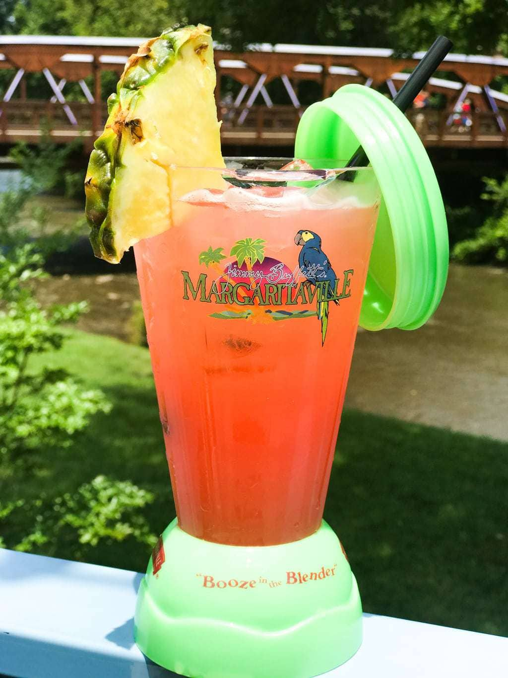 Booze in the Blender at Margaritaville restaurant