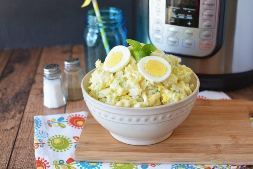 Instant Pot Potato Salad Made With Celery and Onion