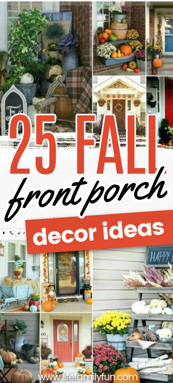 Fall Front Porch Ideas Pin for Pinterest