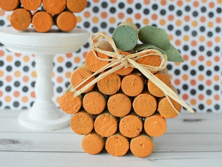 Easy DIY Cork Pumpkins – Perfect For Fall, Thanksgiving, or Halloween