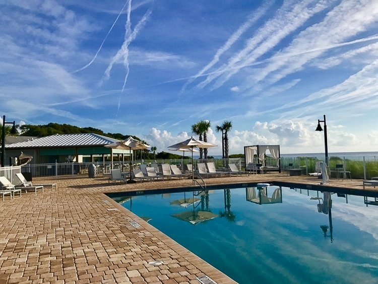 Holiday inn Resort in Jekyll has a heated pool for enjoying
