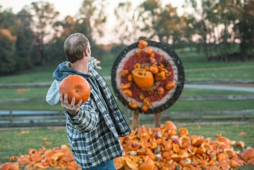 Pumpkin Destruction at The Rock Ranch