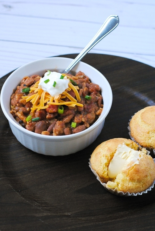 Easy Cast Iron Skillet Cowboy Pinto Beans using Luck's Pinto Beans.