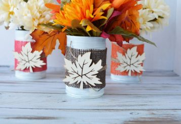Easy Craft For Fall: Upcycle Reusable Tin Can Centerpieces