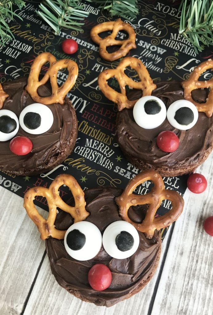 Rudolph Red Nose Reindeer Brownies