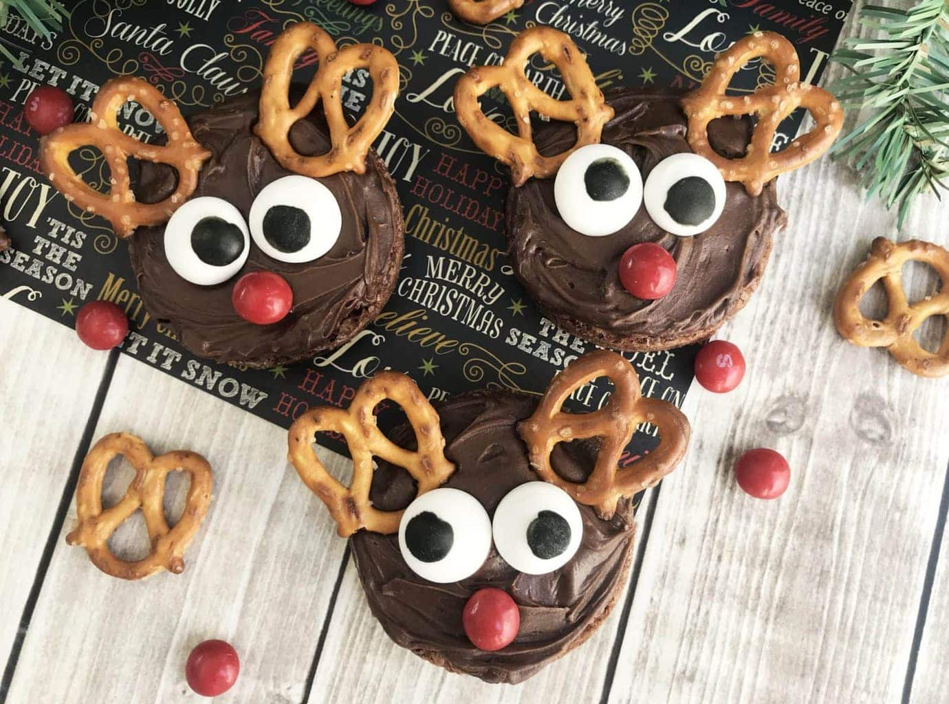 Easy Rudolph Reindeer Brownies Perfect Christmas Holiday Dessert