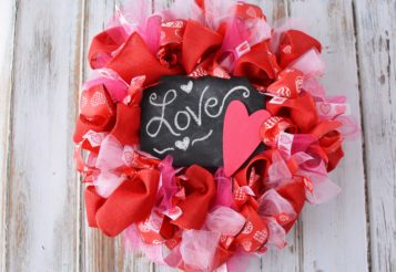 DIY Valentine's Day Wreath – Homemade Door Decorations