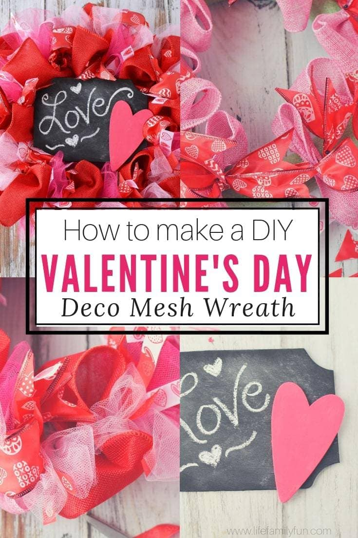 Diy Valentine S Day Wreath Homemade Door Decorations