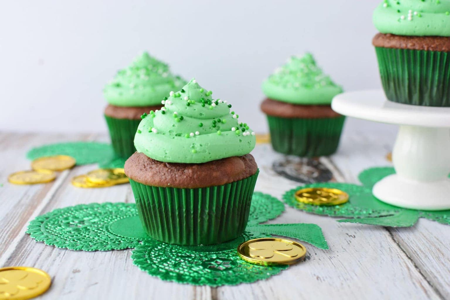 Irish Cream Chocolate Cupcakes Perfect for St. Patricks Day