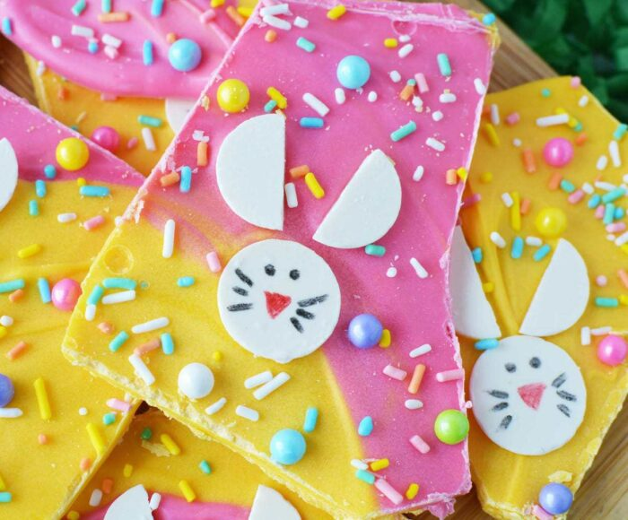 Easter Bunny Candy Bark, Candy Bark for Easter, Easter Bark, Bunny Bark, Easter Candy Bark