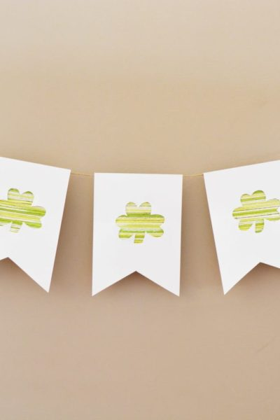 DIY St. Patrick's Day Bunting Banner Decoration
